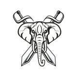 Mascot elephant design illustration emblem sport logo icon isolated royalty free stock photo