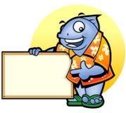 Mascot Fish presentation Stock Photo