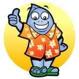 Mascot fish - thumb up royalty free stock image