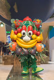 Mascot Foody posing Bit 2015, international tourism exchange in Milan, Italy Royalty Free Stock Photo
