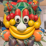 Mascot Foody posing Bit 2015, international tourism exchange in Milan, Italy Stock Photos