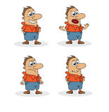 Mascot with four pose. Comic Mascot with four pose on the white background Stock Image