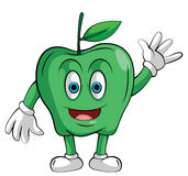 Mascot Green Apple Smile Royalty Free Stock Photo
