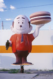 Mascot for a hamburger stand, Bowie, AZ Royalty Free Stock Photos