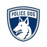 Police Dog Shield Mascot Stock Photos