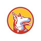 Police Dog Circle Mascot Royalty Free Stock Photography