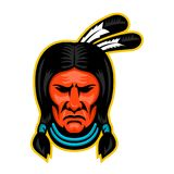 Sioux Chief Sports Mascot Royalty Free Stock Photography