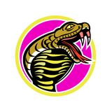 King Cobra Snake Mascot. Mascot icon illustration of king cobra, Ophiophagus hannah, or hamadryad, a venomous snake in family Elapidae, endemic to Southeast Asia Royalty Free Stock Photography