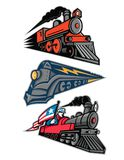 Vintage Steam Locomotive Mascot Collection Stock Photography