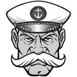 Mascot Illustration上尉 免版税库存照片