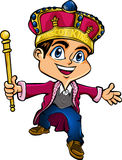 Mascot King. A boy king character that also can be as a mascot for any of your product Stock Photography