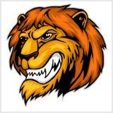 Mascot Lion head illustration Royalty Free Stock Image