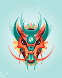 Mascot magical geometric dragon in east style Royalty Free Stock Photography