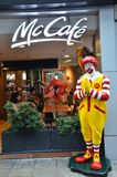 Mascot of a McDonald Restaurant Royalty Free Stock Image