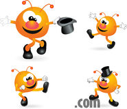 Mascot monster cartoon character set. Little monster cartoon character set Stock Images