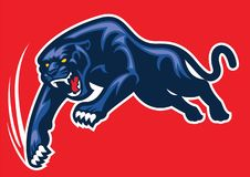 Mascot panther attack. Vector of mascot panther attack royalty free illustration