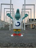 Mascot at park of nation. Oriente at Lisbon in Portugal Royalty Free Stock Photo