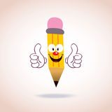 Mascot pencil character Royalty Free Stock Photos
