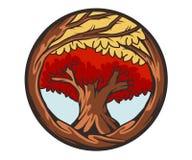Mascot red tree Stock Image
