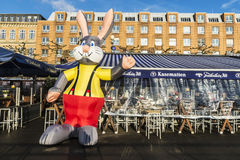 Mascot in the Rhine promenade with its restaurants and bars in D Royalty Free Stock Photos