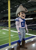 Mascot Rowdy in Ford Center Frisco TX. Mascot Rowdy in Cowboy practice facility  Ford Center, Frisco TX USA Stock Image