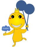 Mascot smiley excellent Royalty Free Stock Photos