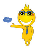 Mascot smiley happy welcome Royalty Free Stock Image