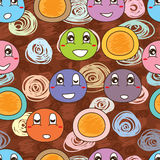 Mascot soft dessert seamless pattern Royalty Free Stock Image