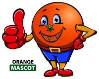 Mascota anaranjada ilustración del vector