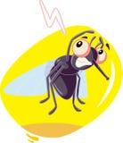 Mascota asustada del carácter del ejemplo de la historieta del vector de insecto de la mosca Foto de archivo