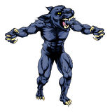 Mascota asustadiza de los deportes de la pantera Imágenes de archivo libres de regalías