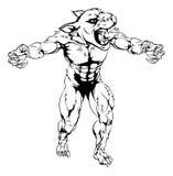Mascota asustadiza de los deportes de la pantera Imagen de archivo libre de regalías