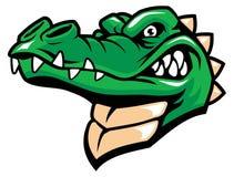 Mascota de la cabeza de Crocodille ilustración del vector