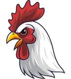 Mascota de la cabeza del gallo del pollo ilustración del vector