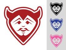 Mascota de la cara del diablo Fotos de archivo libres de regalías