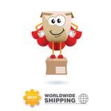Mascota de la entrega Vector del diseño de concepto del envío imágenes de archivo libres de regalías