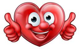 Mascota de la historieta del corazón Fotos de archivo libres de regalías