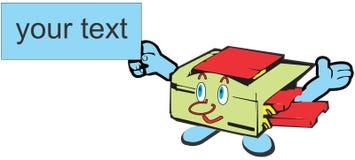 Mascota de la máquina de la copiadora Fotos de archivo libres de regalías