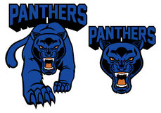 Mascota de la pantera negra ilustración del vector