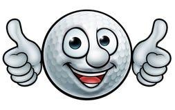 Mascota de la pelota de golf Foto de archivo