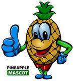 Mascota de la piña stock de ilustración