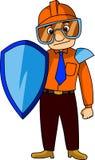 Mascota de la seguridad stock de ilustración