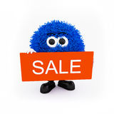 Mascota de la venta para el departamento en línea Imágenes de archivo libres de regalías