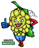 Mascota de las uvas stock de ilustración