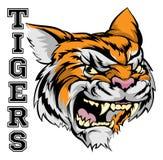 Mascota de los deportes de los tigres Fotos de archivo