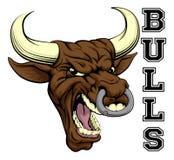 Mascota de los deportes de los toros Imagenes de archivo