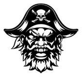 Mascota de los deportes del pirata Foto de archivo libre de regalías