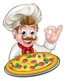 Mascota de Pizza Cartoon Character del cocinero libre illustration
