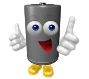 Mascota de Sr. Battery Imagen de archivo libre de regalías