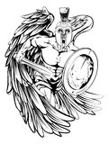 Mascota del ángel Foto de archivo